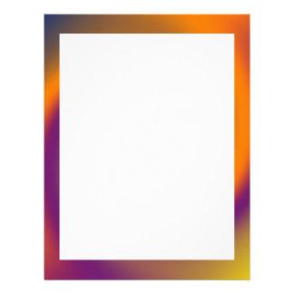 swirl orange purple letterhead