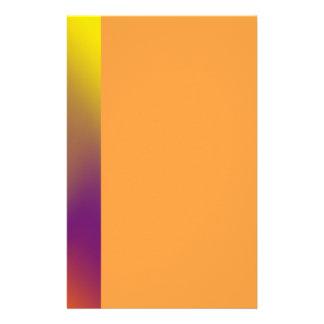 swirl orange purple stationery