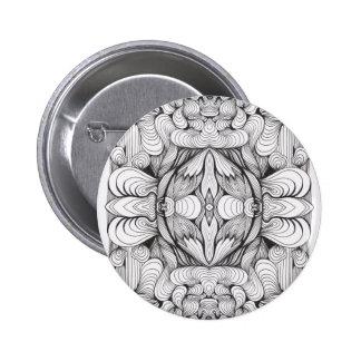 Swirl Ornament Studio Pinback Button