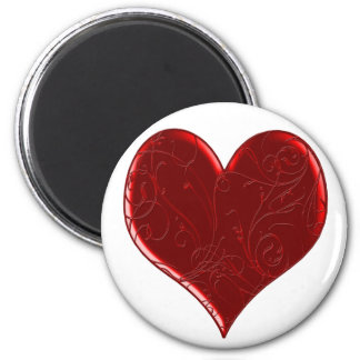 Swirl Overlaid Heart Magnet