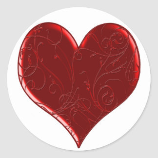 Swirl Overlaid Heart Stickers