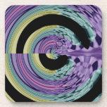 swirl pattern beverage coasters