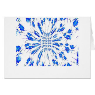 Swirl pattern of blue and white small flowers card
