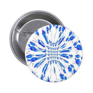 Swirl pattern of blue and white small flowers pins