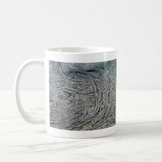 Swirl Pattern on Dark Rocky Surface Coffee Mugs