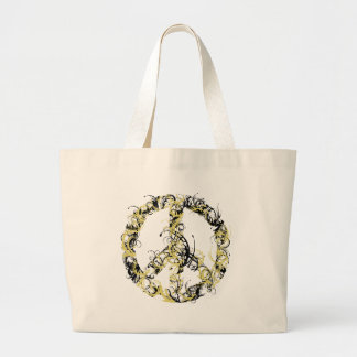 Swirl Peace Sign Tote Bag