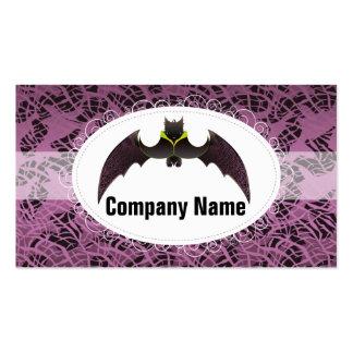 Swirl Purple Halloween Bat Business Card