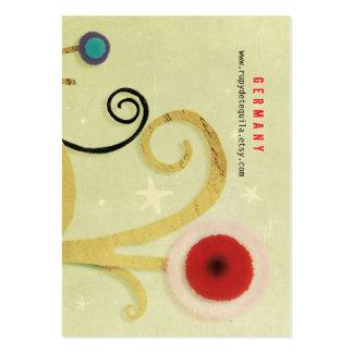 Swirl Red Poppy Business Card