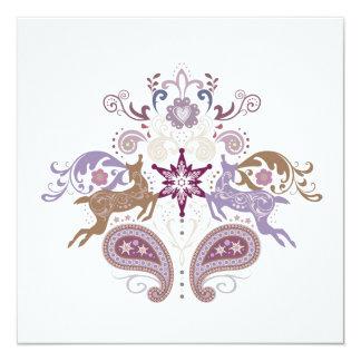 Swirl reindeer card