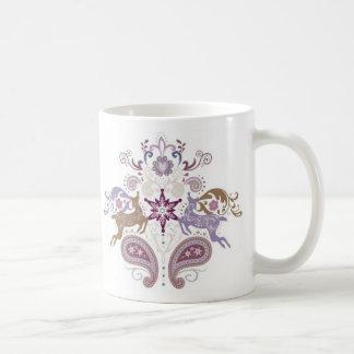 Swirl reindeer classic white coffee mug