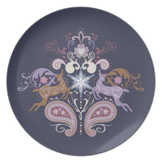 Swirl reindeer plate