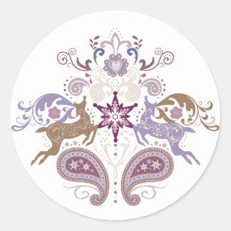 Swirl reindeer sticker