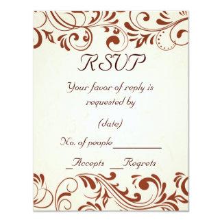 Swirl RSVP Card Template