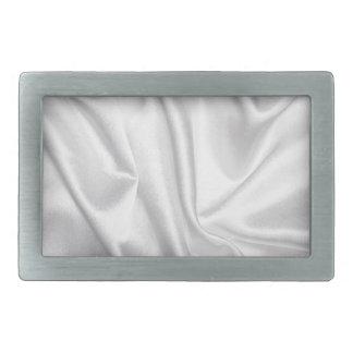 swirl satin white wedding chic textile silk style rectangular belt buckles