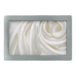 Swirl satin white wedding chic textile silk style belt buckles