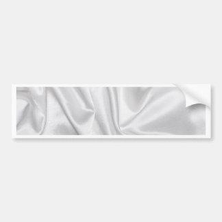 swirl satin white wedding chic textile silk style bumper stickers