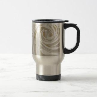 Swirl satin white wedding chic textile silk style mugs