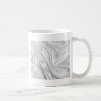 swirl satin white wedding chic textile silk style mug
