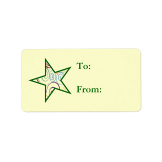 Swirl Star Gift Tags Label