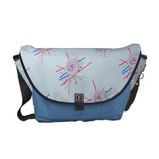 Swirl swizzle sticks pattern courier bags