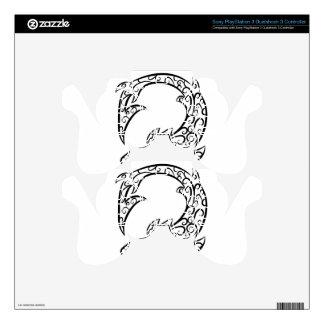 Swirl Tattoo Shark PS3 Controller Skins