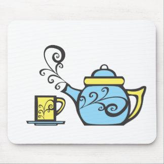 Swirl Teapot and Mug Mouse Pad