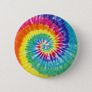 Swirl Tie Dye Multicolor Rainbow Button