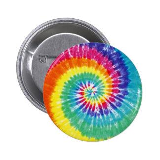 Swirl Tie Dye Multicolor Rainbow 2 Inch Round Button