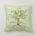 Swirl Tree of Life Roots Personalized Family Gift Pillows