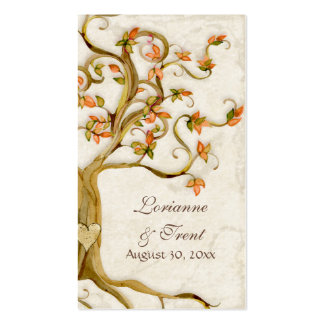 Swirl Tree Roots Antique Tan Escort Place Cards Double-Sided Standard Business Cards (Pack Of 100)