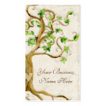 Swirl Tree Roots Antique Tan Professional Business Business Card Template