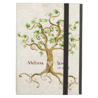 Swirl Tree Roots Antiqued Family Reunion Invite iPad Air Cover