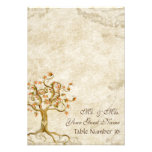 Swirl Tree Roots Antiqued Parchment Table Number Invitation