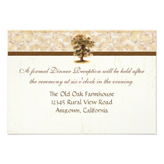 Swirl Tree Roots Antiqued Parchment Wedding Custom Announcements