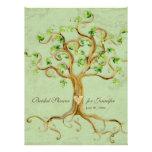 Swirl Tree Roots Antiqued Sage Bridal Shower Invite