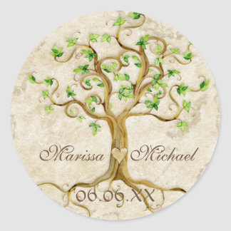 Swirl Tree Roots Antiqued Wedding Matching Seals