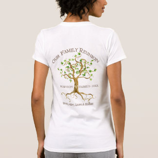 Swirl Tree Roots Personalize Family Reunion Gift T-shirt