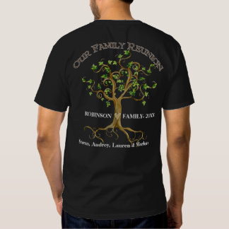 Swirl Tree Roots Personalize Family Reunion Gift Tee Shirt