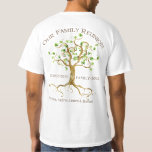 Swirl Tree Roots Personalize Family Reunion Gift Tshirt