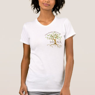 Swirl Tree Roots Personalize Family Reunion Gift Tshirts