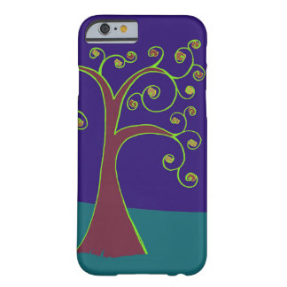 Swirl Tree with Purple and Blue Background Barely There iPhone 6 Case