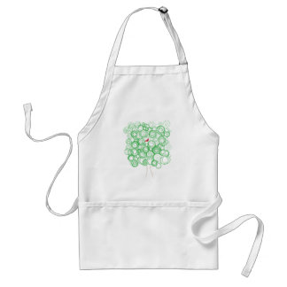 Swirl Tree with Red Bird Adult Apron