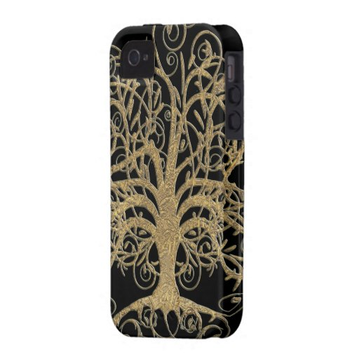 Swirl Tree You Choose Background Color Case-Mate iPhone 4 Covers