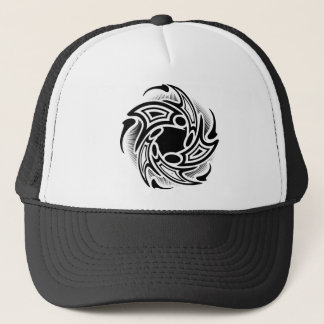 Swirl Tribal Tattoo Design Trucker Hat