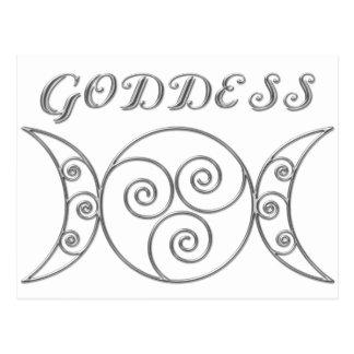 Swirl Triple Goddess Symbol Postcard