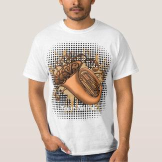 Swirl Tuba custom name value t-shirt