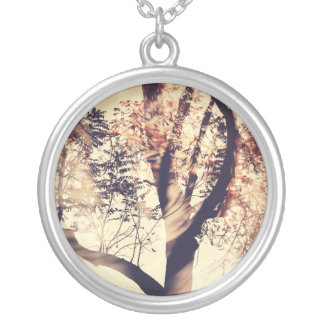 Swirl (Warm Colors) Silver Plated Necklace