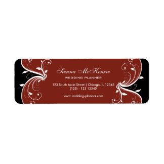 Swirl Wedding Planner Label