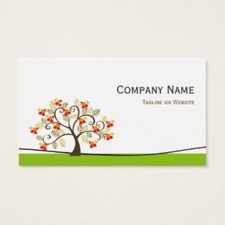 Swirl Whimsical Tree - Simple Green Stylish Business Card
