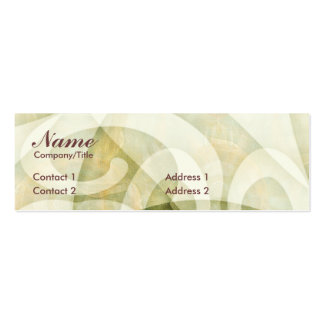 SWIRLCURLS PROFILE CARD Double-Sided MINI BUSINESS CARDS (Pack OF 20)